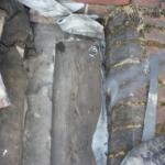 Box gutter above cellar